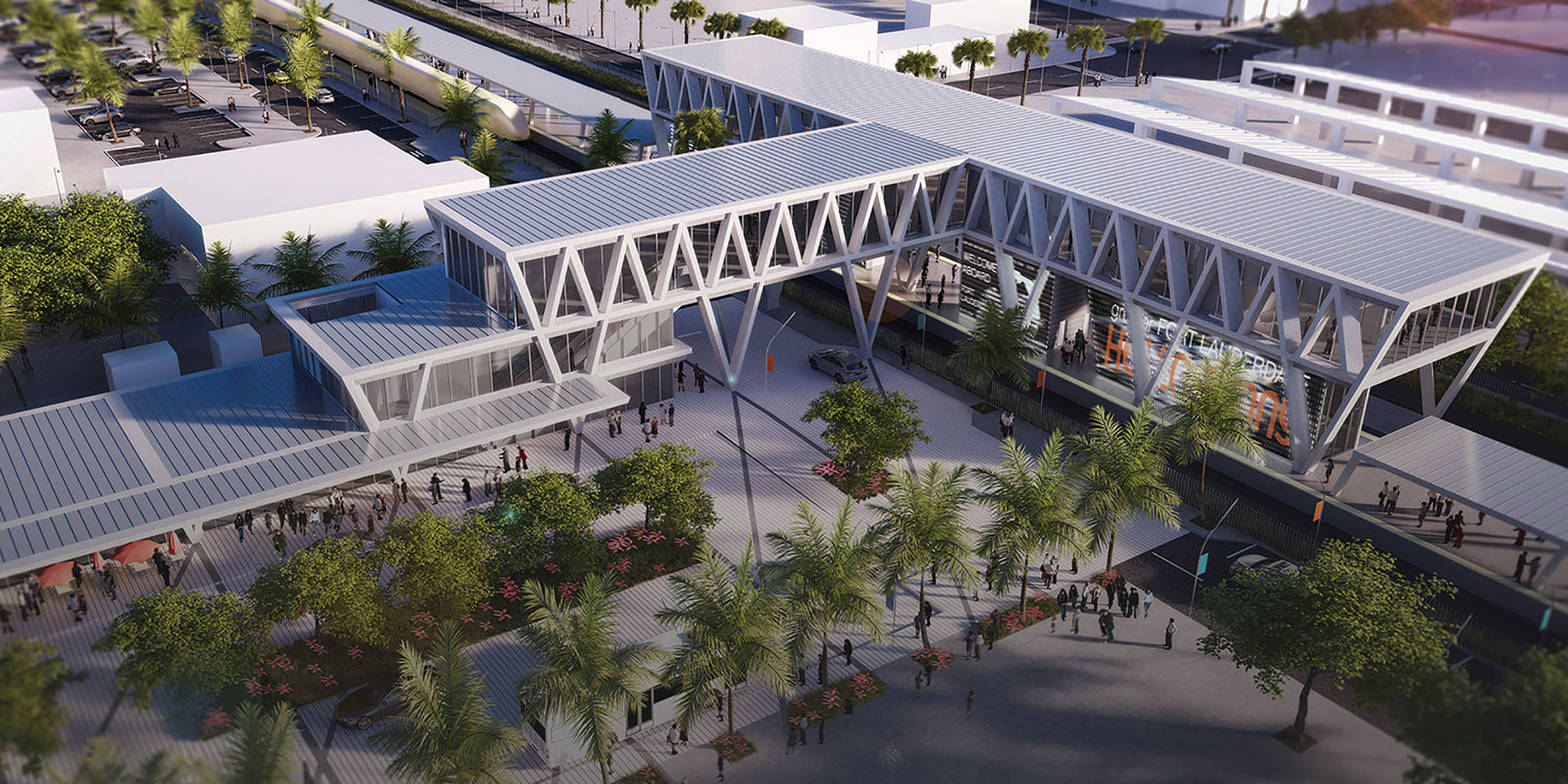 Rendering of The All Aboard Florida Station in Fort Lauderdale
