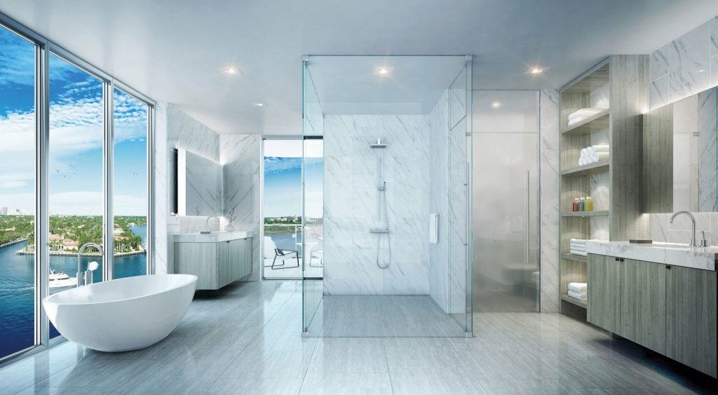 Spacious Bathroom in 321 at Water's Edge