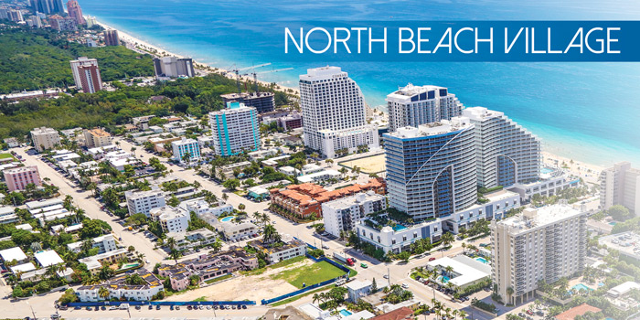 Aerial of North Beach Village on Fort Lauderdale's Barrier Island